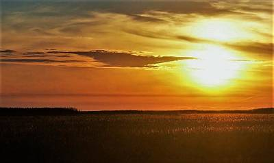 Photograph - Marshgrass Sunset by John Glass