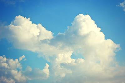Airscape Photograph - Marshmallow Clouds by Traci LaRussa