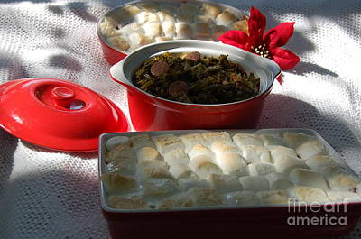 Marshmellow Covered Candied Yams And Southern Greens Art Print