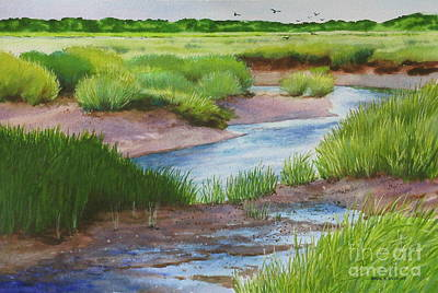Painting - Marshside Creek by Karol Wyckoff