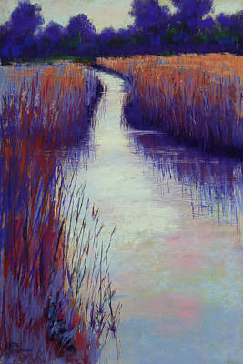 Painting - Marshy Reeds by Lisa Crisman