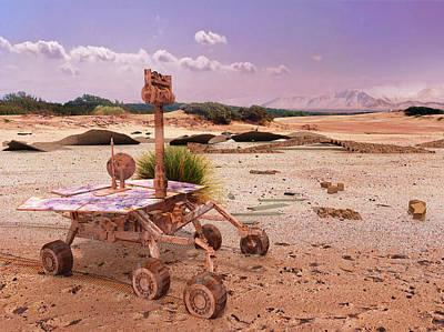 Digital Art - Marsrover Opportunity's Bicentennial by Frans Blok