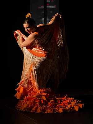 Dancing Photograph - Marta Robles - Orange by Elzbieta Petryka