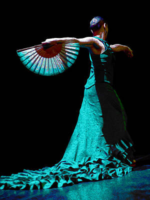 Flamenco Mixed Media - Marta Robles - Moonlight  by Elzbieta Petryka
