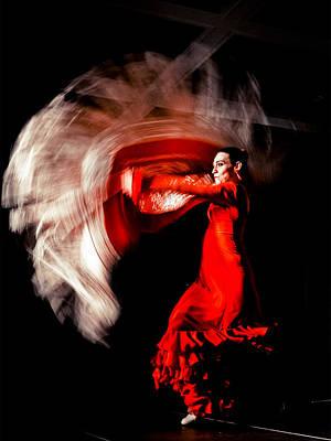 Flamenco Mixed Media - Marta Robles - Motion 3 by Elzbieta Petryka