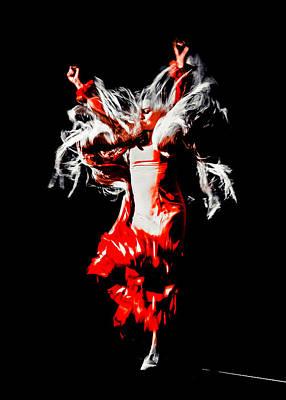 Flamenco Mixed Media - Marta Robles - Motion 4 by Elzbieta Petryka