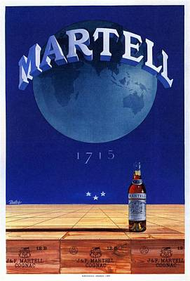 Royalty-Free and Rights-Managed Images - Martell - Cognac - Liquor - Vintage Advertising Poster by Studio Grafiikka