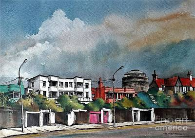Painting - Martello Tower Bray Seafront Wicklow....vb732 by Val Byrne