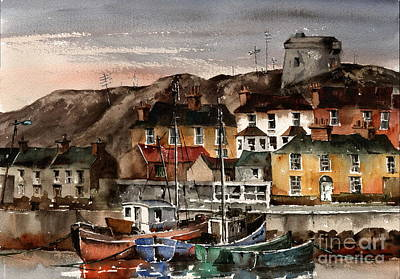 Painting - Martello Tower, Howth Head, Dublin, ...x102 by Val Byrne