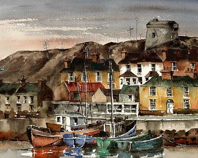 Painting - Martello Tower, Howth by Val Byrne