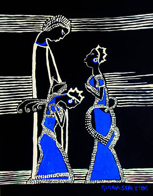 Painting - Martha And Mary Of Bethany by Gloria Ssali