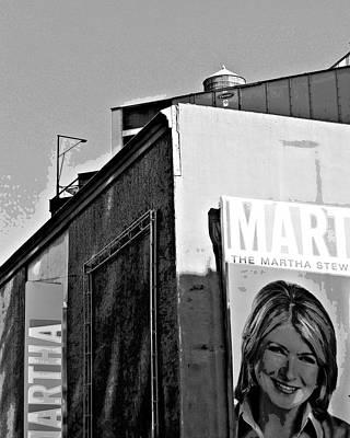 Martha Is Watching You #2 Art Print by Jan Mazziotta