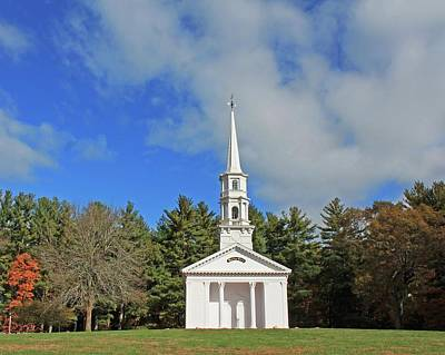 Photograph - Martha Mary Chapel In Sudbury Ma by Michael Saunders