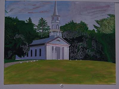 Wayside Painting - Martha Mary Chapel by William Demboski