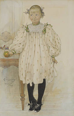 Painting - Martha Winslow As A Girl by Carl Larsson