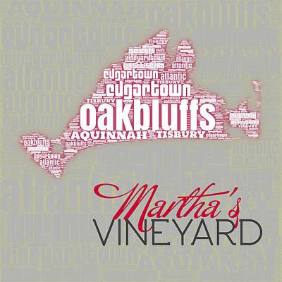 Cape Cod Mass Digital Art - Martha's Vineyard 3 by Brandi Fitzgerald