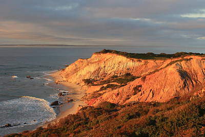 Photograph - Martha's Vineyard Aquinnah Cliffs In Evening Light by John Burk