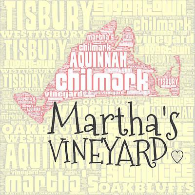 Vineyard Digital Art - Martha's Vineyard by Brandi Fitzgerald