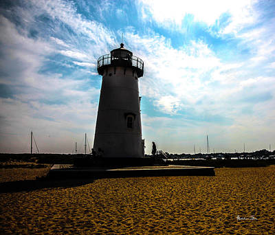 Art Print featuring the photograph Martha's Vineyard Lighthouse - Massachusetts by Madeline Ellis