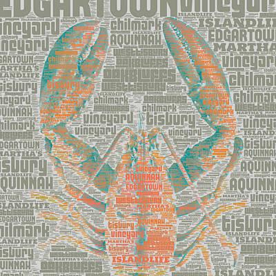 Vineyard Digital Art - Martha's Vineyard Lobster by Brandi Fitzgerald