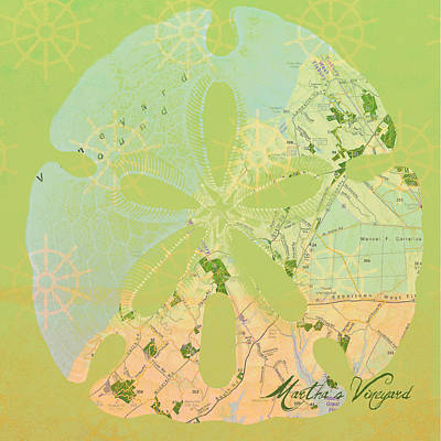 Vineyard Digital Art - Martha's Vineyard Sand Dollar by Brandi Fitzgerald