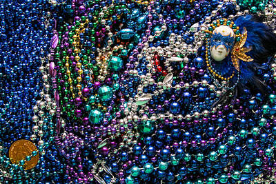 Wall Art - Photograph - Mardi Gras In Blue Mask Right by Diana Marcoux