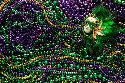 Wall Art - Photograph - Mardi Gras In Green by Diana Marcoux