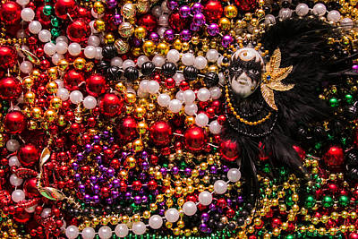 Wall Art - Photograph - Mardi Gras In Red Mask Right by Diana Marcoux