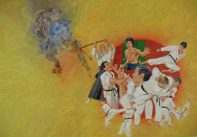 Art Print featuring the painting Martial Arts by Cliff Spohn