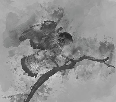 Digital Art - Martial Eagle by Petrus Bester