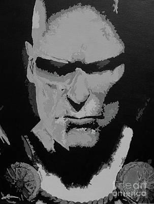 Martian Manhunter - Close Encounter Bw Art Print