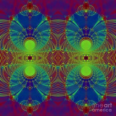 Digital Art - Martian Orbits Fractal by Rose Santuci-Sofranko
