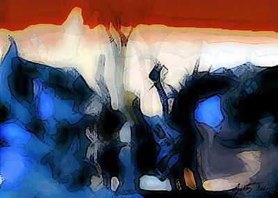 Digital Art - Martian Riding His Horse by Gabby Tary