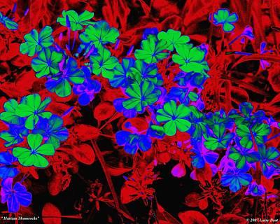 Digital Art - Martian Shamrocks by Larry Beat