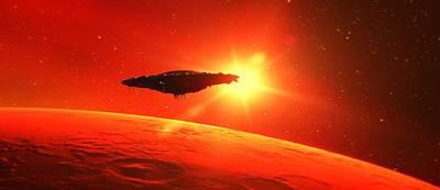 Fantasy Digital Art - Martian Voyage by Raphael Terra by Raphael Terra