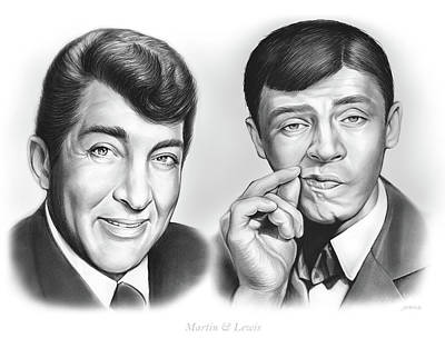 500 Drawing - Martin And Lewis by Greg Joens