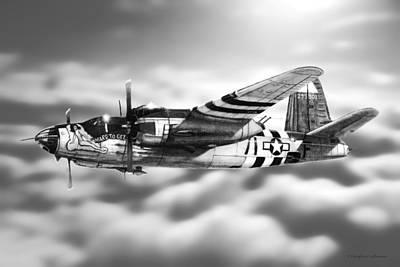 Drawing - Martin B-26 Marauder Drawing by Douglas Castleman