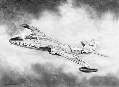 Drawing - Martin B-57 Intruder  by Douglas Castleman