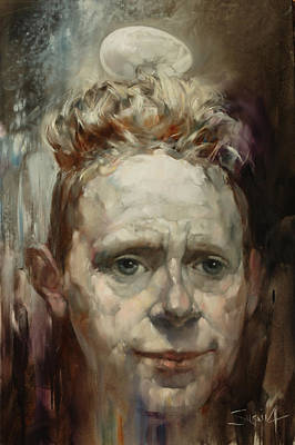 Portret Painting - Martin Gore. Depeche Mode. 2014 by Stanislavas Sugintas