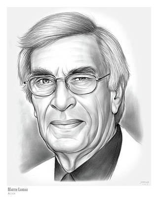 Alfred Drawing - Martin Landau by Greg Joens