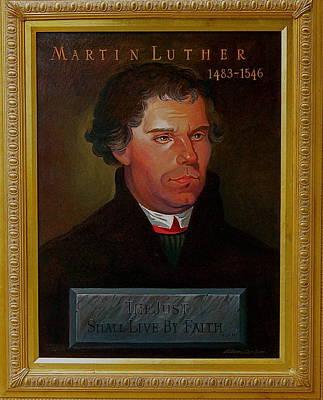 Martin Luther Art Print by Alan Carlson