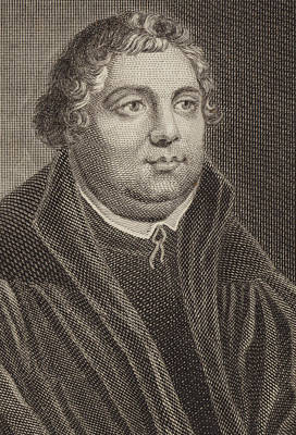 Theologians Drawing - Martin Luther by English School