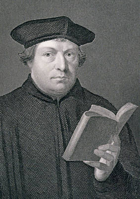 Faith Drawing - Martin Luther by Hans Holbein