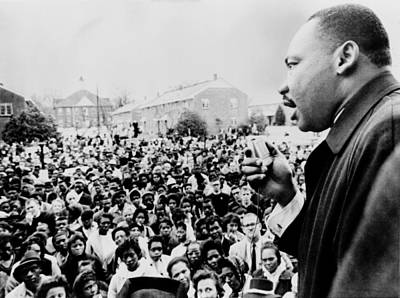Martin Luther King Addresses Selma Art Print by Everett