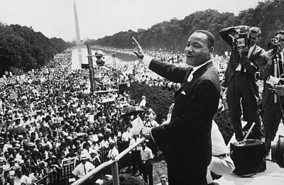 Political Photograph - Martin Luther King by American School