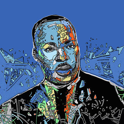 Digital Art - Martin Luther King Color by Bekim Art