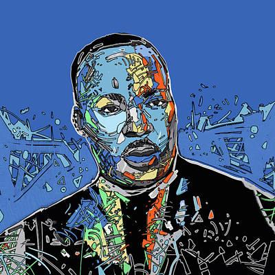 Digital Art - Martin Luther King Color by Bekim Art