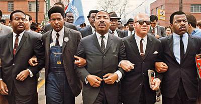 Politicians Digital Art - Martin Luther King Selma Drawing by Jovemini ART