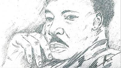 Portaits Drawing - Martin Luther King Jr  by Collin A Clarke