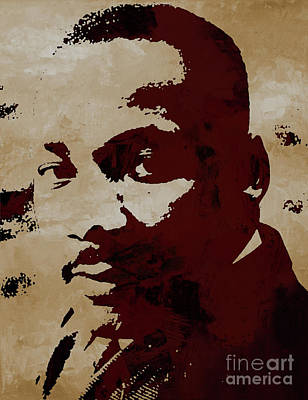 Rights Painting - Martin Luther King Jr by Gull G